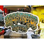 ロッキン・ジェリービーンのロウブローアートステッカー(エロスティポップ/ブルー) アメリカ雑貨 アメリカン雑貨 車 シール ブランド