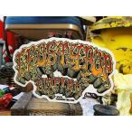 ロッキン・ジェリービーンのロウブローアートステッカー(エロスティポップ/オレンジ) アメリカ雑貨 アメリカン雑貨 車 シール ブランド