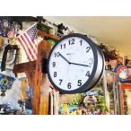 ダルトン ダブルフェイスウォールクロック Lサイズ アメリカ雑貨 アメリカン雑貨  壁掛け時計 おしゃれ インテリア 雑貨 グッズ 生活雑貨 ギフト