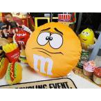 m&m'sのクッション(オレンジ) アメリカ雑貨 アメリカン雑貨