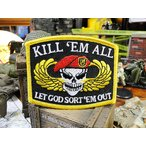 KILL 'EM ALLのミリタリーワッペン アメリカ雑貨 アメリカン雑貨 アメリカ アルファベット ミリタリー 英文字 ロゴ ファッション ミニ 人気