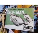 ノートンのブリキ看板(アイル・オブ・マン) アメリカ雑貨 アメリカン雑貨 サインプレート ティンサインボード インテリア 壁飾り おしゃれ 人気 ブランド