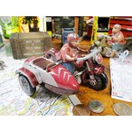 懐かしのブリキのおもちゃ バイクサイドカー アメリカ雑貨 アメリカン雑貨