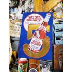 ペプシコーラ ゴールド・5セントのエンボス・ティンサイン アメリカ雑貨 アメリカン雑貨 サインプレート ティンサインボード インテリア 壁飾り
