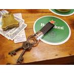ハイネケンのフェイクレザーキーホルダー アメリカ雑貨 アメリカン雑貨