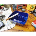 アメリカのメラミン灰皿(スクエア/ブルー) アメリカ雑貨 アメリカン雑貨 灰皿 おしゃれ インテリアおしゃれな部屋 人気