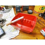 アメリカのメラミン灰皿(スクエア/レッド) アメリカ雑貨 アメリカン雑貨 灰皿 おしゃれ インテリアおしゃれな部屋 人気