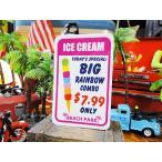 ビーチパークサインステッカー(アイスクリーム) アメリカ雑貨 アメリカン雑貨 車 シール ブランド グッズ