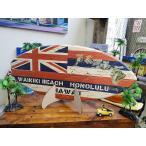 ミニサーフボード(ハワイ州旗) アメリカ雑貨 アメリカン雑貨 ハワイグッズ ハワイアン雑貨 おしゃれ インテリア 人気