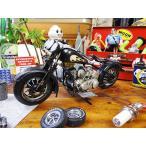 ハーレーのブリキバイクオブジェ(ブラック) アメリカ雑貨 アメリカン雑貨
