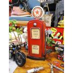 ガスポンプのブリキオブジェ(レッドスター) アメリカ雑貨 アメリカン雑貨