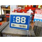 アメリカのナンプレに貼ってある証明ステッカー(青) アメリカ雑貨 アメリカン雑貨 車 シール
