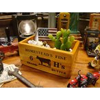 ホームステッド バターボックス アメリカン雑貨 木箱 収納  アメリカ 通販 人気 可愛い インテリア カントリー雑貨 ナチュラル