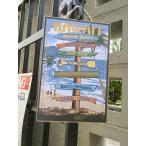 ハワイアン・ウッドプラークサイン(ヤードサイン) ハワイ雑貨 ハワイアン雑貨 壁掛け 人気 おしゃれな部屋 インテリア 通販