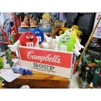 キャンベルのウッドボックス(Lサイズ) アメリカ雑貨 アメリカン雑貨 おしゃれな部屋 インテリアグッズ 人気