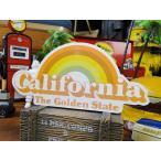 カリフォルニア・レインボーのステッカー アメリカ雑貨 アメリカン雑貨 車 シール ブランド 人気