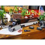 マイスト ハーレーダビッドソンのコンボイトレーラーのミニカー 1/64スケール(シルバーヘッド) アメリカ雑貨 アメリカン雑貨