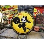 フィリックスのワッペン(ラウンド/黄) アメリカ雑貨 アメリカン雑貨 アルファベット ミリタリー ミニ ロゴ エンブレム