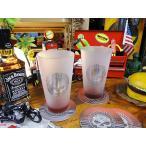 ハーレーダビッドソンのスカル・パイントグラス 2個セット アメリカ雑貨 アメリカ 輸入 インテリア グッズ 雑貨 人気
