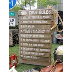 「男の隠れ家のルール」のウッドボード アメリカン雑貨