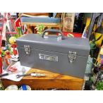 インダストリアル・ユーティリティボックス Lサイズ(グレー) アメリカ雑貨 アメリカン雑貨 道具箱 工具箱 おしゃれ 人気 インテリア 雑貨
