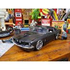 Jada 1967年シェルビーGT500のダイキャストモデルカー 1/24スケール(ブラック) アメリカン雑貨