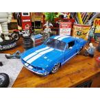 Jada 1967年シェルビーGT500のダイキャストモデルカー 1/24スケール(ブルー) アメリカン雑貨