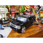 Jada ハマーH2のダイキャストモデルカー 1/24スケール(ブラック) アメリカン雑貨