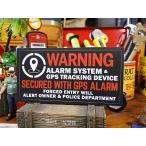 「警告!このクルマはGPSシステムにより守られています」のセキュリティステッカー バッドアス・ステッカー#23(ブラック)アメリカ雑貨 アメリカン雑貨
