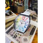 天才時計師フランク三浦の腕時計 六号機(改)デカ時計タイプマグナム(レインボーホワイト) アメリカ雑貨 アメリカン雑貨