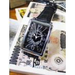 天才時計師フランク三浦の腕時計 初号機(改)通常サイズ(シルバーブラック) アメリカ雑貨