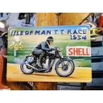 世界のオートバイの3Dメタルサイン(マン島レース) アメリカン雑貨 アメリカ雑貨