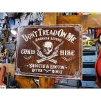 Don't Tread On Meのブリキ看板 スカルガンマン アメリカ雑貨 アメリカン雑貨