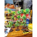 南の島のヤシの木のオブジェ(台付き/Sサイズ&Lサイズ6個セット) アメリカン雑貨 アメリカ雑貨