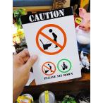 「トイレは座ってしてください」の警告ステッカー アメリカン雑貨 アメリカ雑貨