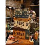 【全国送料無料】 ナンバープレート・トリプルボックス 3個セット アメリカン雑貨 アメリカ雑貨