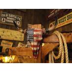 ショッピングウエスタン USフラッグ・スカルプラーク ■ アメリカン雑貨 アメリカ雑貨 ウエスタン 雑貨 グッズ オブジェ 男前インテリア雑貨 バッファロー