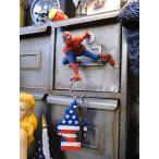 スパイダーマンのマグネットハンガー アメリカ雑貨 アメリカン雑貨 人気ランキング1位獲得画像