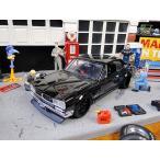 Jada 映画「ワイルドスピード」のダイキャストモデルカー 1/24スケール(ブライアン/ニッサン・スカイライン2000 GT-R ハコスカ) アメリカ雑貨