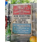 U.S.アーミー・第七騎兵連隊の木製看板 アメリカ雑貨 アメリカン雑貨