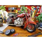 ハーレーのブリキオブジェ(レッド)  ■ アメリカン雑貨 アメリカ雑貨 harley  davidson ミニカー モデルカー 男前インテリア
