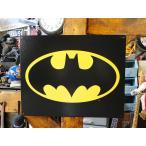 バットマンロゴのブリキ看板 ■  アメリカ雑貨 アメリカン雑貨 サインプレート ティンサインボード