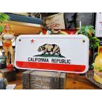カリフォルニアフラッグのバイカープレート アメリカ雑貨 アメリカン雑貨