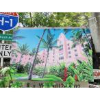 ハワイアン・キャンバスアート(ピンクパレス/ロイヤルハワイアン) アメリカ雑貨 アメリカン雑貨