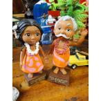 ハワイの妖精メネフネのダッシュボードドール(2体セット) アメリカ雑貨 アメリカン雑貨