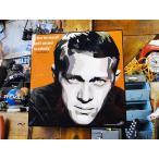 スティーブ・マックイーンのポップアートフレーム  ■  人気ランキング「1位獲得」 アメリカン雑貨 アメリカ雑貨  パネル ポスター