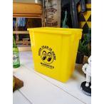 ムーントラッシュビン(イエロー) ■ アメリカン雑貨 アメリカ雑貨 ごみ箱 ゴミ箱 ダストビン ダストBOX