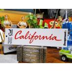 カリフォルニアステッカー(筆記体ロゴ/レッド) ■ アメリカン雑貨 アメリカ雑貨 デカール シール