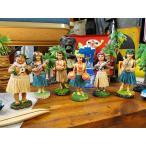 ハワイアン・フラガールのダッシュボードドール MINI(6体セット) ■ アメリカン雑貨 アメリカ雑貨