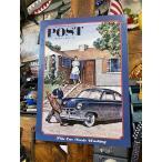 ノーマン・ロックウェルのブリキ看板(サタデーイブニングポスト/このクルマ洗車すべし) ■ アメリカン雑貨 アメリカ雑貨